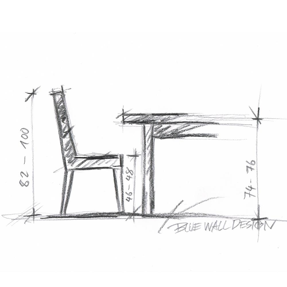 Blue Wall Design-Beratungsservice-Esszimmerstühle
